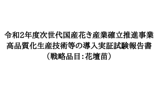 『花壇苗の耐暑性試験』活動報告